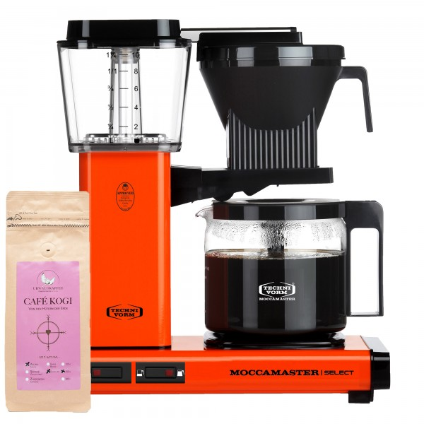 Moccamaster Select Orange incl. 250 g CAFÉ KOGI ALUNA