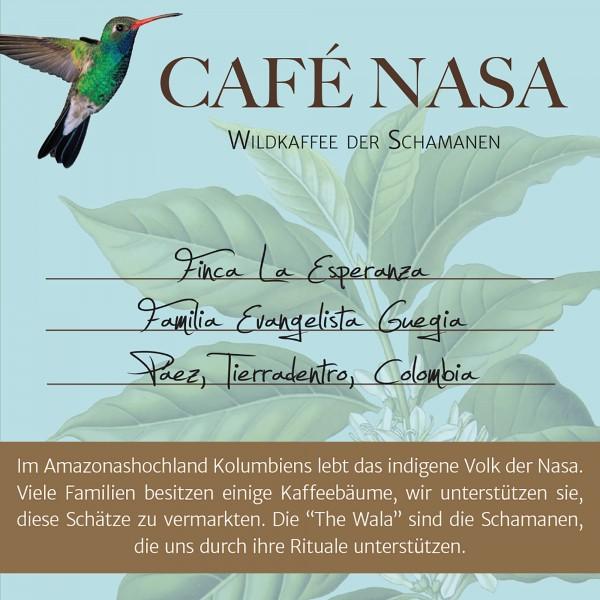 CAFÉ NASA, Evangelista Guegia, Kaffee