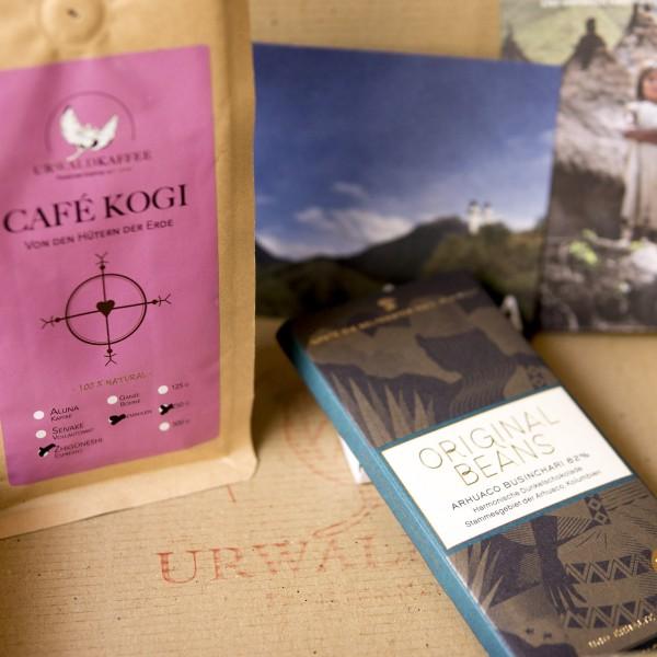 Präsent CAFÉ KOGI + Arhuaco Businchari Schokolade