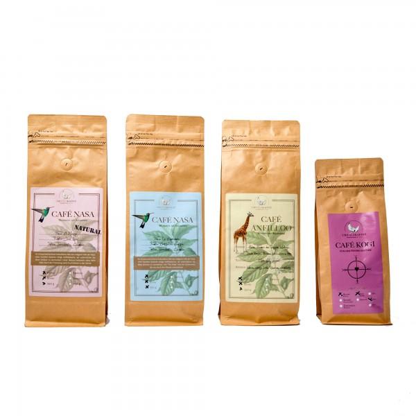 10 % Rabatt - Probierpaket Urwaldkaffee, 4 Sorten