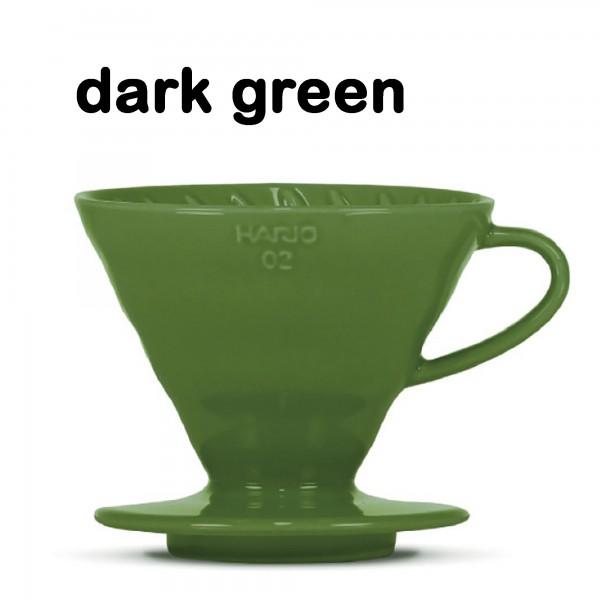 "Hario Handfilter V60 ""Colour Edition"" dark green Größe 02"