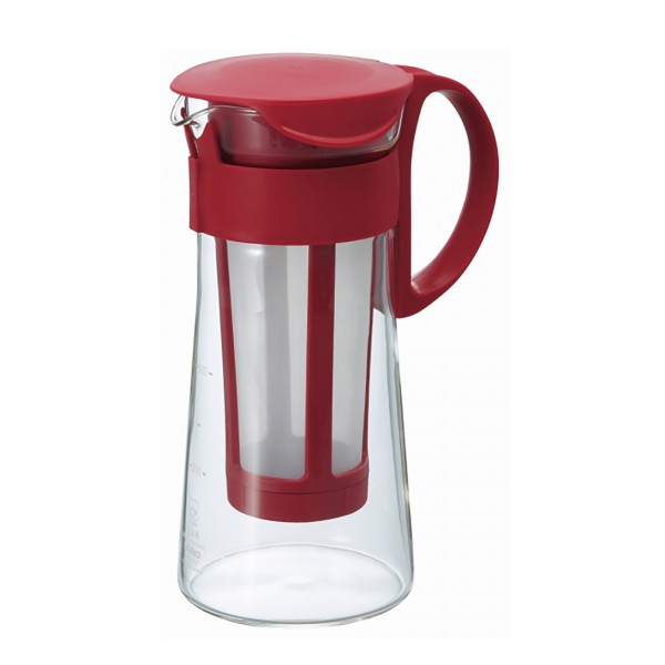 Hario Mizudashi Water Brew Coffee Pot Mini Red, 600 ml
