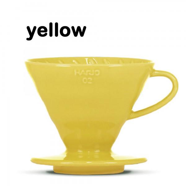 """Hario Handfilter V60 """"Colour Edition"""" yellow Größe 02"""