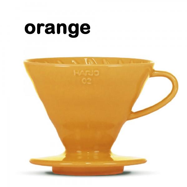 """Hario Handfilter V60 """"Colour Edition"""" orange Größe 02"""