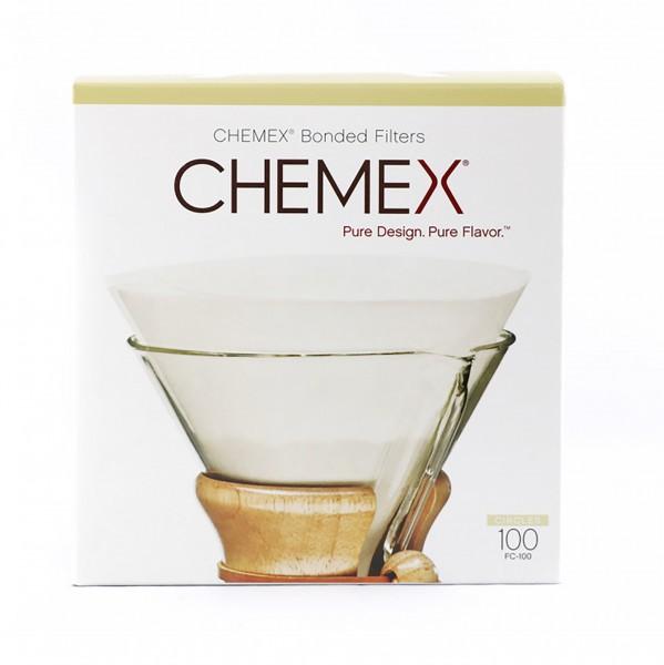 Filterpapier Chemex 3/6/8/10 Tassen rund weiß