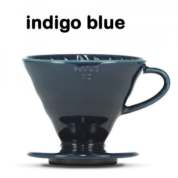 """Hario Handfilter V60 """"Colour Edition"""" indigo blue Größe 02"""