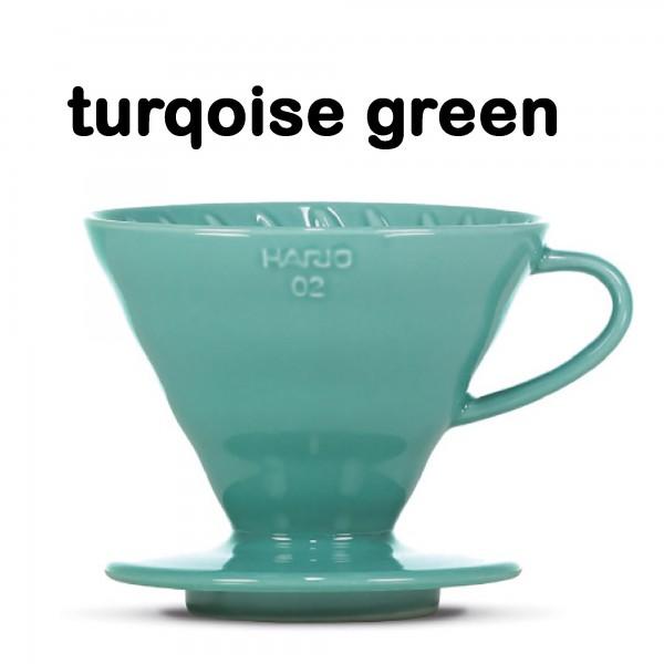 "Hario Handfilter V60 ""Colour Edition"" turquoise-green Größe 02"