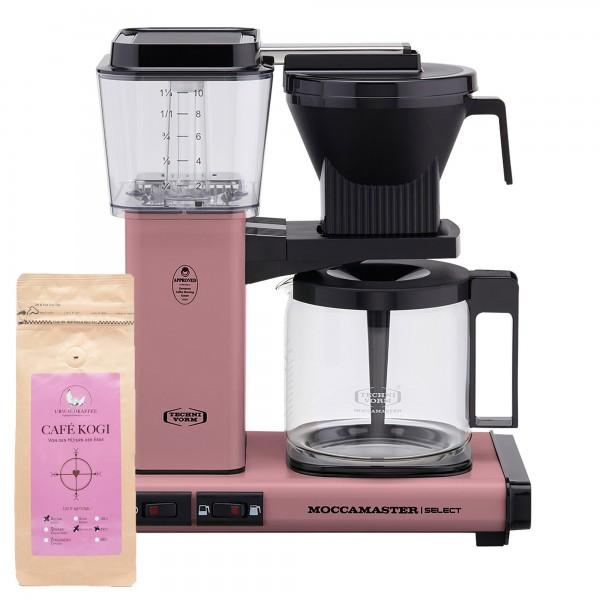 Moccamaster Select Pink incl. 250 g CAFÉ KOGI ALUNA