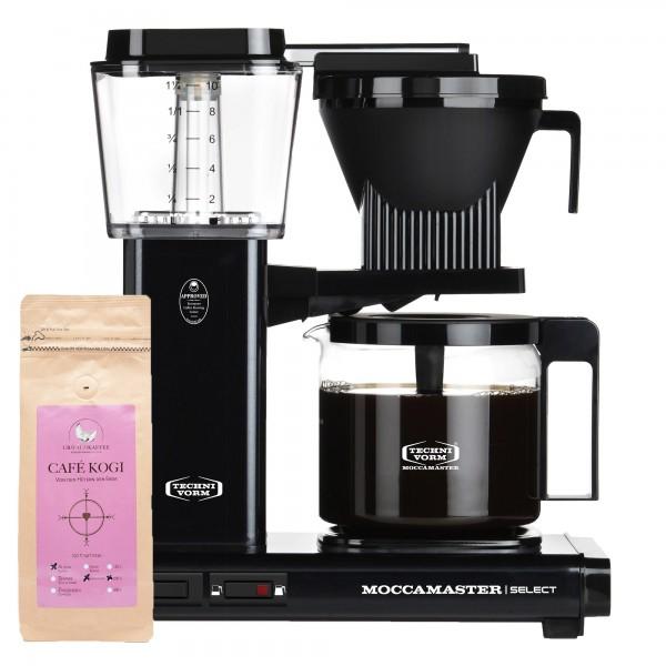 Moccamaster Select Black incl. 250 g CAFÉ KOGI ALUNA