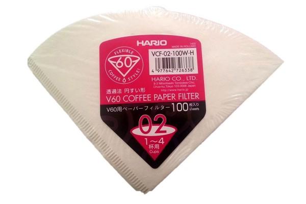 Hario Filterpapier VCF-02-100W-H, Größe 02 Made in the Netherlands